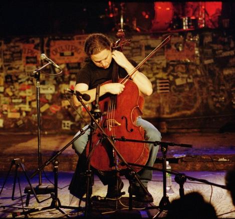 Matt Haimovitz at CBGB [credit: Harry DiOrio]