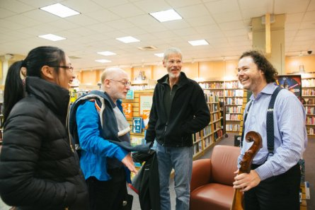 Mr. Haimovitz after his bookstore performance.